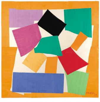 image of matisse cut-out 'The Snail' consisting of blocks of colour arranged in the shape of a snail