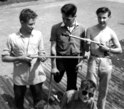 Chailey boys with sticks and crutches for guitars, circa 1960