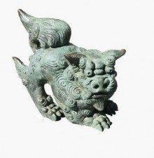 stone carved dog
