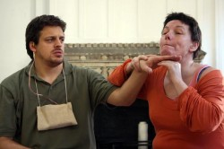 photo of male and female Deaf actors Deafinitely Theatre Company