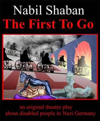Front cover of play by Nabil Shaban First to Go