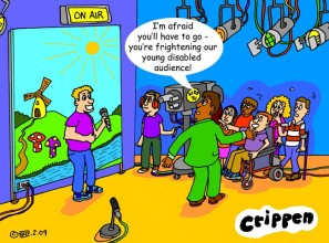 fright cartoon