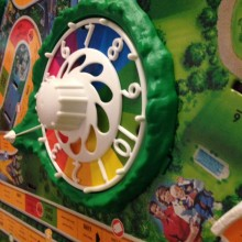 multicoloured plastic spinning wheel from the Game of Life