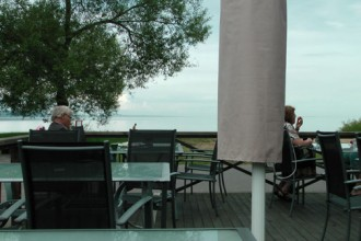 View of Lake Shore from a cafe