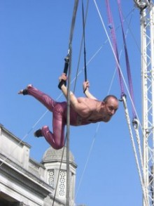 Jean-Marie Akermann on ropes