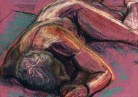 Man Laying on Floor by John Exell