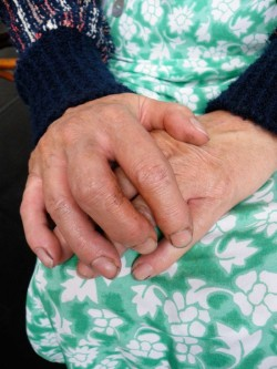 photo of the hands of an elderly woman