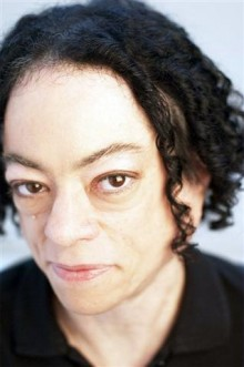A close up photograph of disabled artist Liz Carr