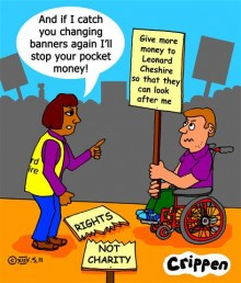 Crippen\'s cartoon about the 11th May protest march against cuts
