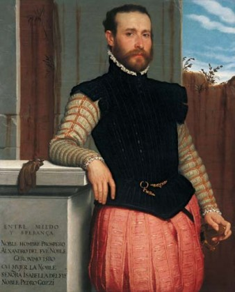 portrait of the 16th century artist in stylish dress