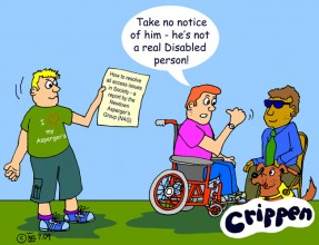Crippen's Aspergers and Disabled people cartoon