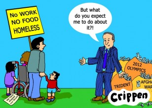 Cameron confronted by starving family