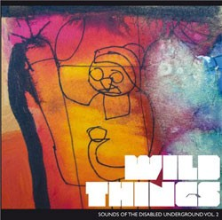 CD cover art showing a line drawing of a figure over an abstract mix of red and yellow colour