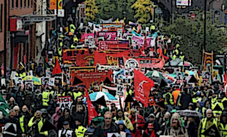 Crippen and the Disabled peoples protest march on 3rd October