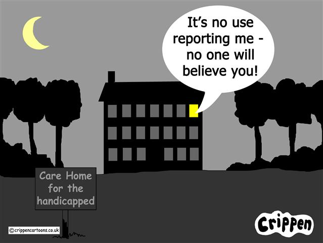 Crippen's abuse reporting cartoon