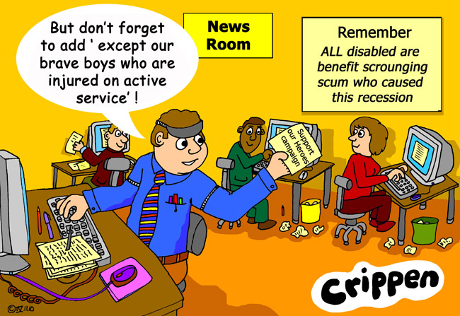 Crippen's cartoon about us Crips not being disabled at all!