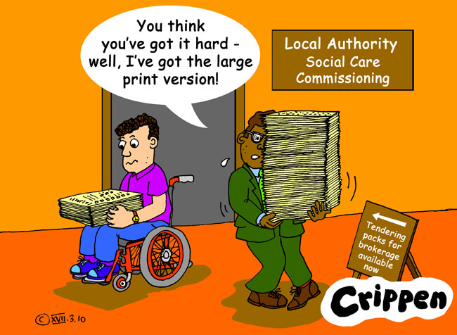 Crippen's cartoon about the social care tendering process