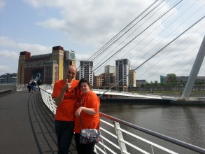 Matthew and Becky in Newcastle