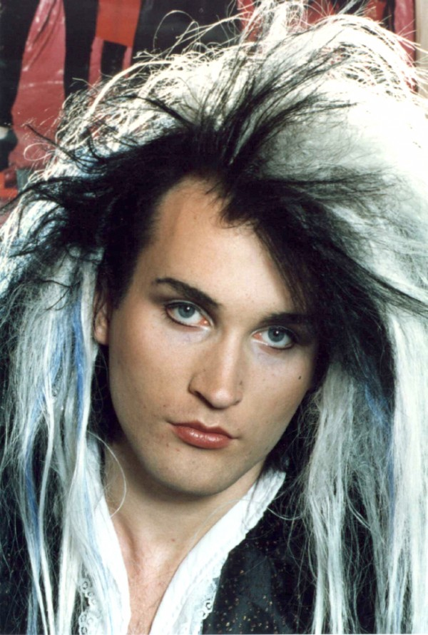 photo of Wild Style frontman Bobbi Style sporting long black and peroxide white hair extensions