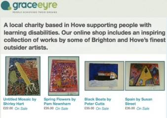 Screenshot from the Grace Eyre website