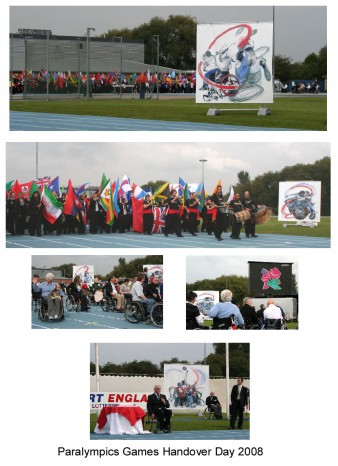 A series of photographs of the handover parade at Stoke Mandeville. Photo courtesy of Rachel Gadsden Rachel Gadsden
