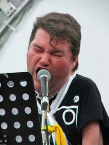 photo of singer at Liberty Festival