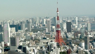 View of Tokyo Tower from Mori Tower 52nd floor