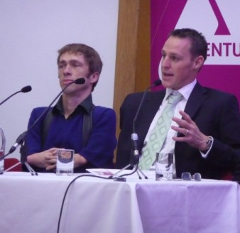 two panelists at the launch of accentuate Sarah Pickthall