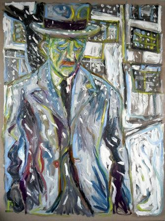 painting of a man wearing a suit