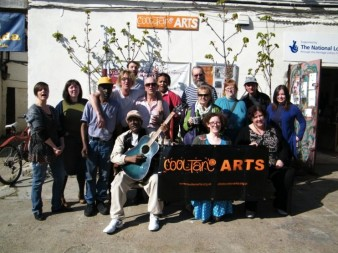 photo of a group of celebrants outside Cooltan Arts offices