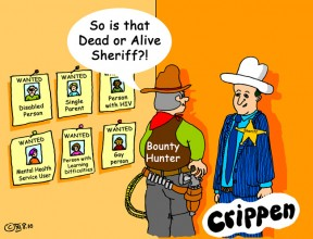 Crippen's cynical take on the benefits bounty hunters