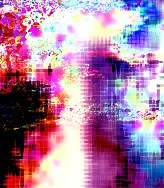 abstract digital image in red, blue and purple Colin Hambrook