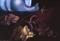 Early Days, Holding Promise  (Mixed media) by Nancy Willis