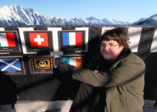 Jason Eade from the Oska Bright committee on top of the canadian rockies!