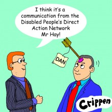 Crippens cartoon of Birmingham City Cll. Peter Hay getting the message