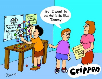 Crippen's cartoon about the MMR vaccinations causing Autism