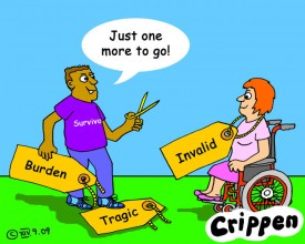 Crippen's cartoon about identifying labels and getting rid of them
