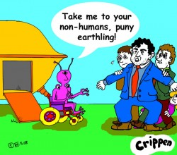 non-humans cartoon