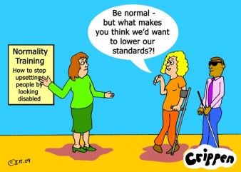 normality training cartoon Crippen