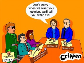Crippen's cartoon about the lack of consultation with disabled people