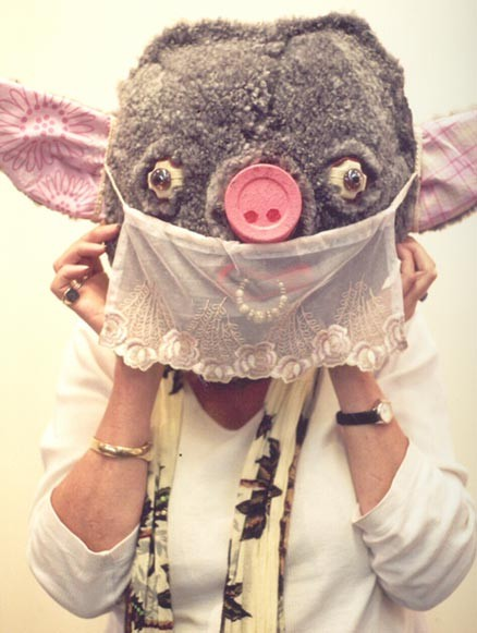 Pig Mask  (mixed media: by Body-Mask project participants) by James Aldridge