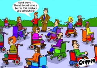 Crippen wheelchairs cartoon