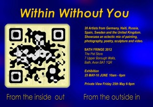 Within Without You Exhibition Flyer