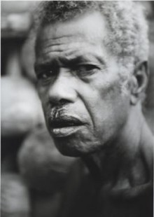 Black and White Photograph of tribesman, Papua New Guinea